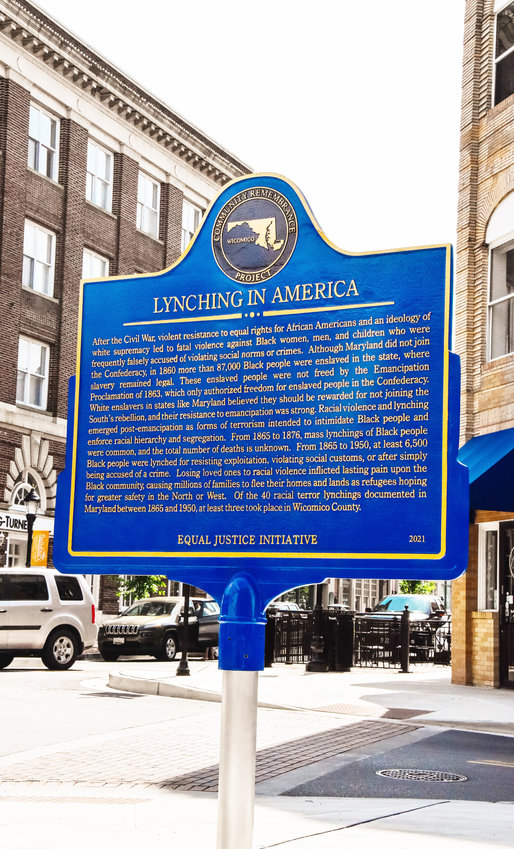 """The city of Salisbury and the Salisbury Lynching Memorial Task Force have erected a Lynching Memorial at the corner of Main and Division streets. A """"Silent No More"""" event was held Saturday. See story and photos, Pages 6 and 7."""
