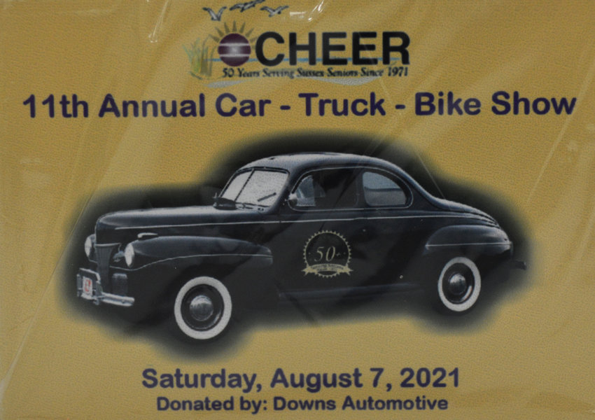 Registered participants in the CHEER Car-Truck-Bike Show on Aug. 7 will receive these commemorative dash plaques. The event, which also will include a craft/hobby show, a barbecue lunch and music, will be held at the Warren L. & Charles C. Allen Jr. CHEER Community Center in Georgetown.