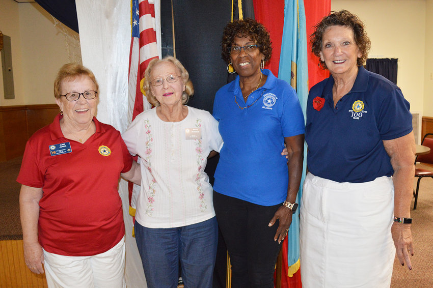 A 10-year member of American Legion Auxiliary Unit 28, Marie Ironside of Millsboro, was recently honored as the Department of Delaware's Auxiliary Member of the Year. From left are Unit 28 Vice President June Jones, Ms. Ironside, Unit 28 Public Relations Chair Tina Washington and Unit 28 Historian Beth McGinn.