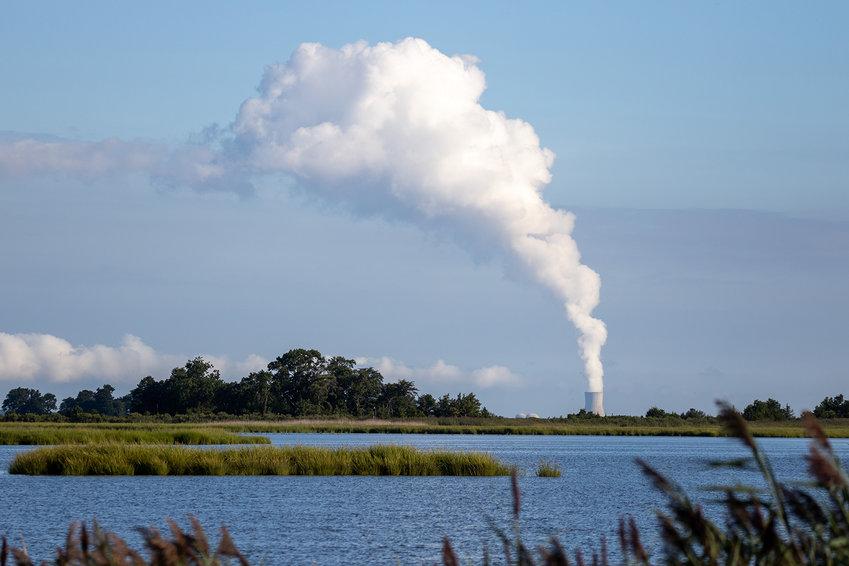 Jim Webster of Dover took this photo of the Hope Creek Nuclear Power Plant as seen from Bombay Hook National Wildlife Refuge Aug. 21.
