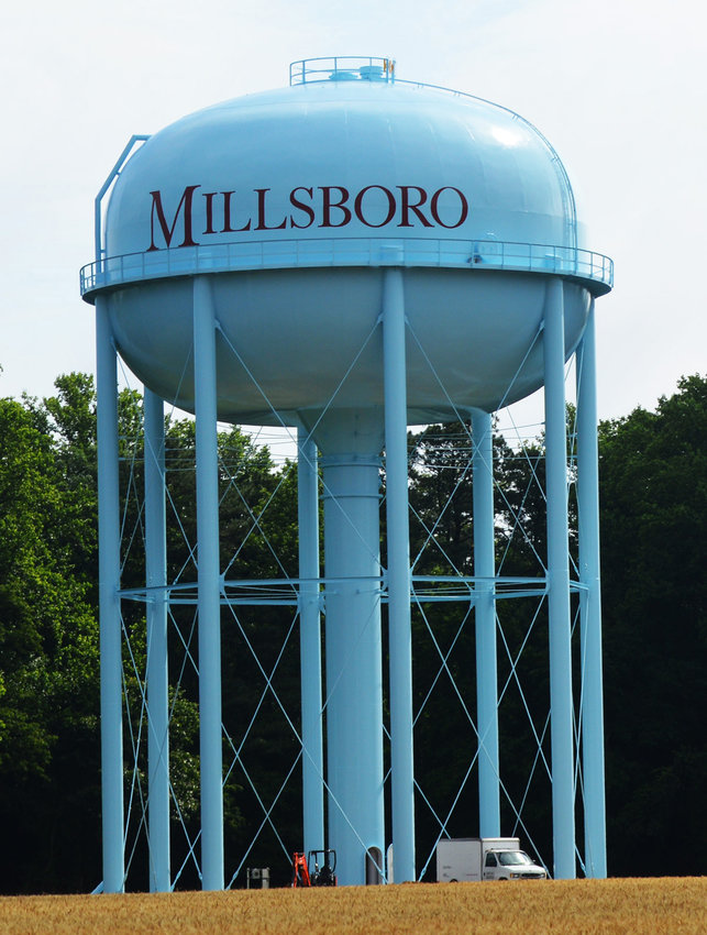 Millsboro's new 1 million-gallon water-storage tank on the town-owned White Farm property on the town's northern limits became operational Aug. 26.