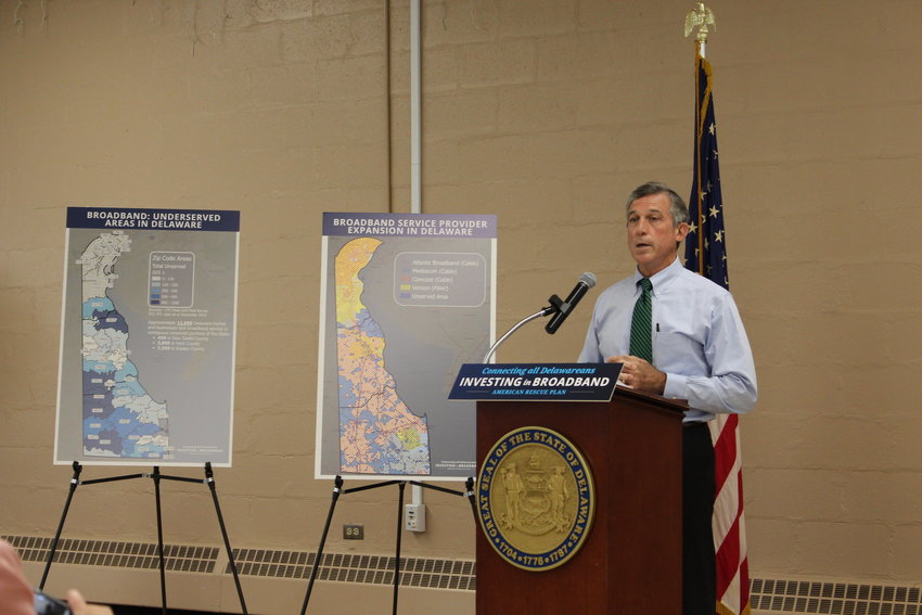Gov. John Carney revealed his plan to use American Rescue Plan Act funding to increase high-speed broadband access throughout Delaware on Thursday.