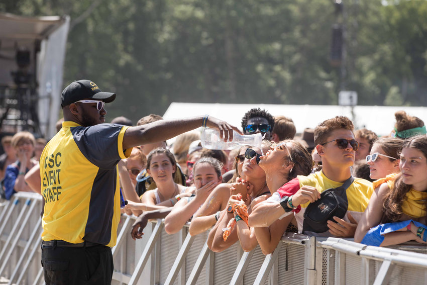 Crowds braved the heat of the Firefly Music Festival in July 2019.