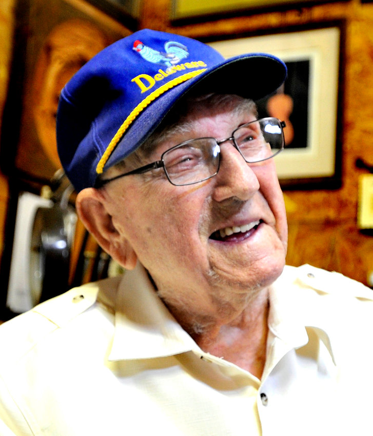 "World War II veteran Randolph T. ""Fred"" Faulkner, of Smyrna, is celebrating his 100th birthday."