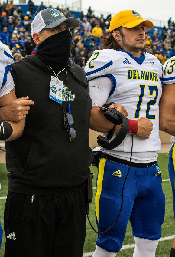 Delaware coach Danny Rocco said he has a lot of confidence in backup quarterback Zach Gwynn (No. 12).