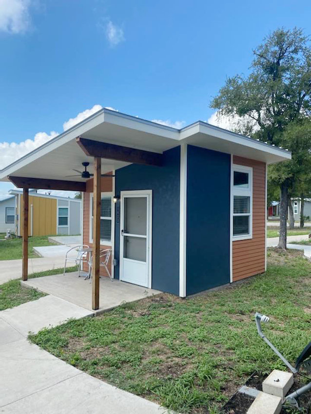 Similar to these homes at a commun ity in Texas, Salisbury plans to build 30 tiny homes to offer safe, clean spaces for the chronically homeless population.