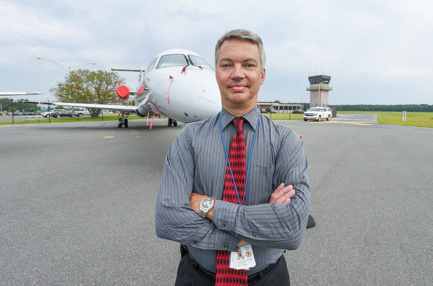 """Tony Rudy, Airport Manager for SBY Regional Airport: """"We are still moving forward with $10 million in discretionary funds. If we get another $5 million, we will have to address that."""""""