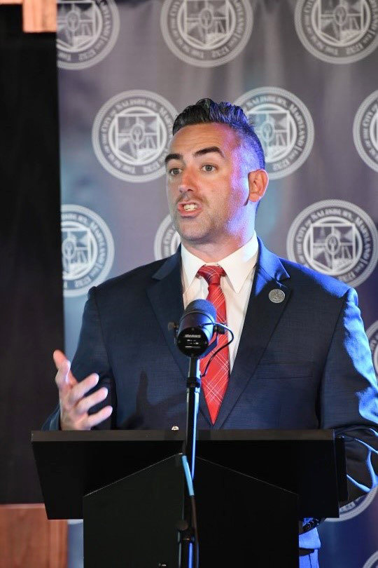 Salisbury Mayor Jake Day at Tuesday night's State of the City address.