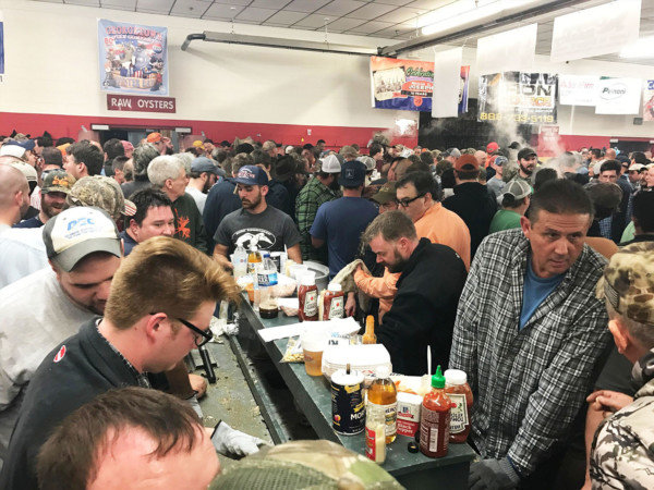 Eating room was at a premium at the Georgetown Fire Co.'s 2017 Oyster Eat. This year's event has been switched to a drive-thru, due to the pandemic.