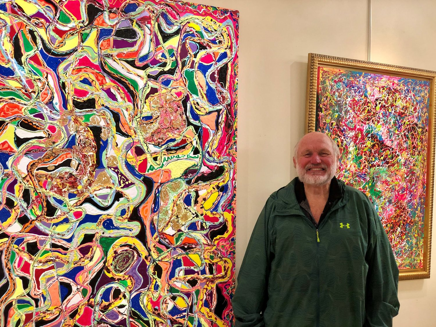 Artist W.T. Stewart is exhibiting his artwork throughout the Smyrna Opera House. Twenty percent of the proceeds from everything he sells during the show will go to the Opera House.