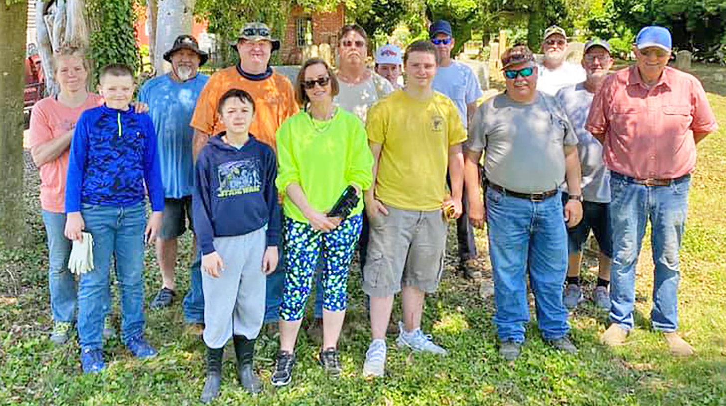 Volunteers worked to maintain the Richardson Family Burial Ground in Church Creek.
