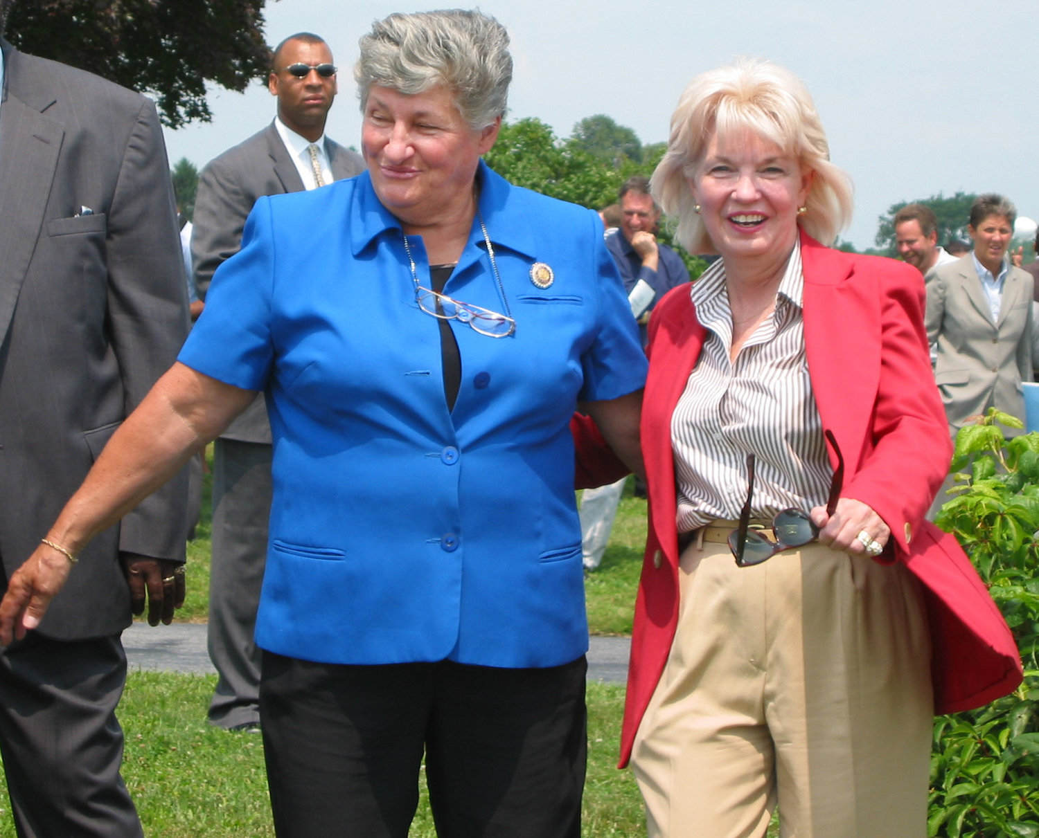 Ms. Holland, right, is pictured with then-Gov. Ruth Ann Minner at the Blent farm in Smyrna, which was preserved from development by the state of Delaware.