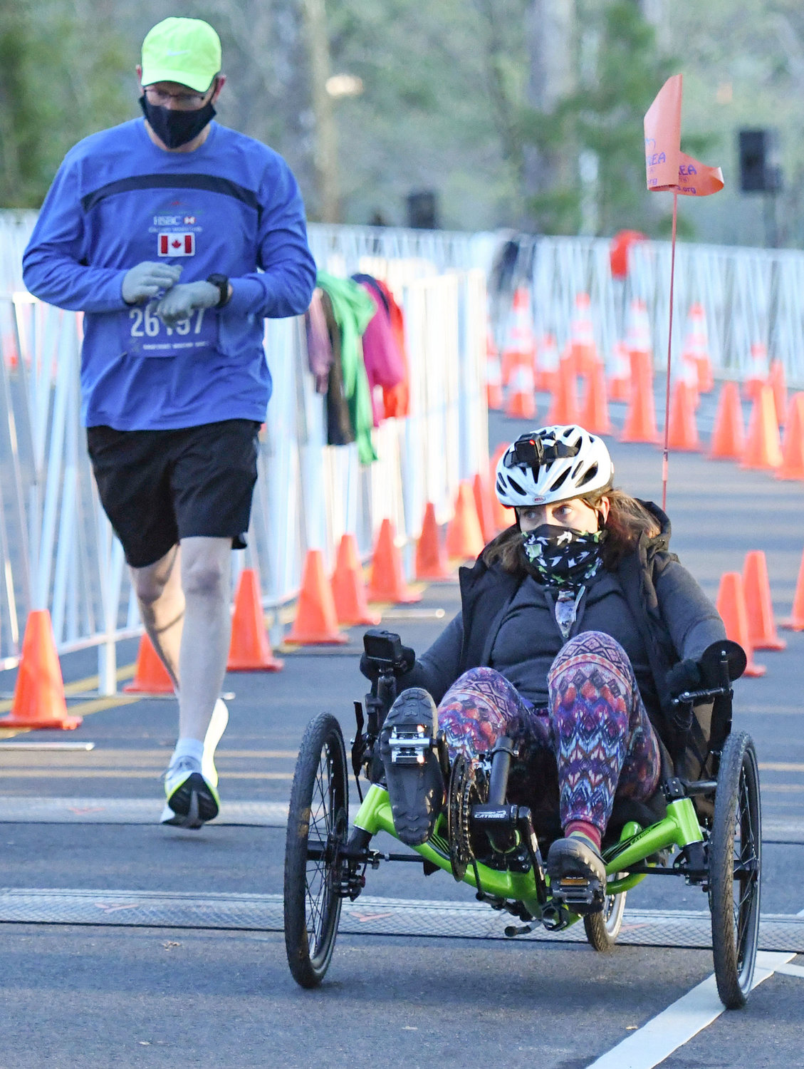 Andrea Lytle Peet, an athlete with ALS, is on a quest to be the first person with ALS to complete a marathon in each of the 50 states. Salisbury's event was No. 26 in her journey.