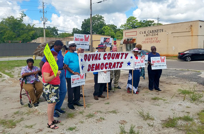 Duval Democrats publicly oppose the pension tax.