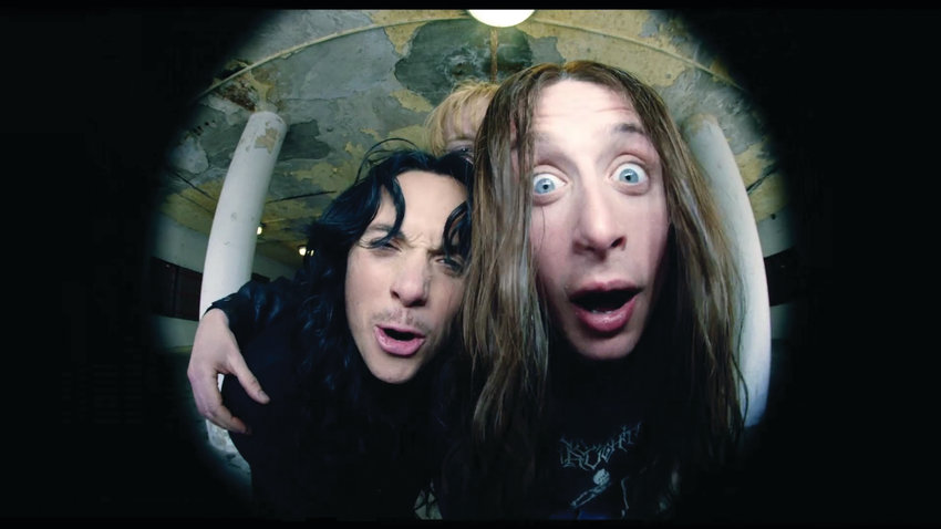 Jonathan Barnwell and Rory Culkin are young rabblerousers in Lords of Chaos.