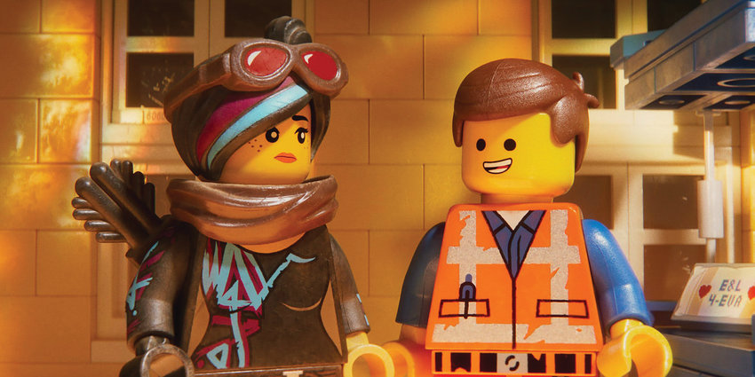 Wyldstyle and Emmet in The LEGO Movie 2