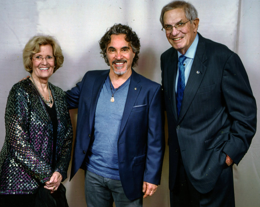 Jane and Bill Warner with John Oates