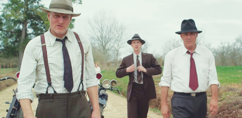 Woody Harrelson and Kevin Costner star in The Highway Men