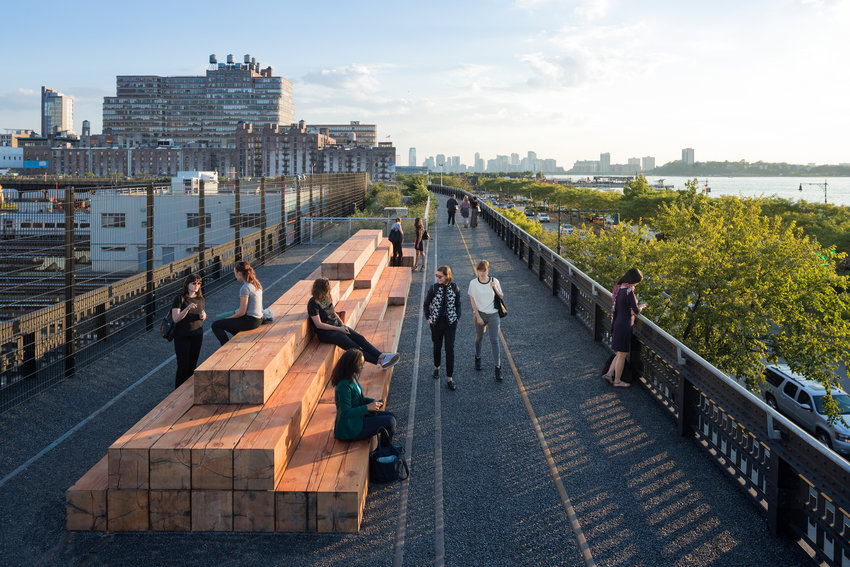 New York's High Line at the Rail Yards