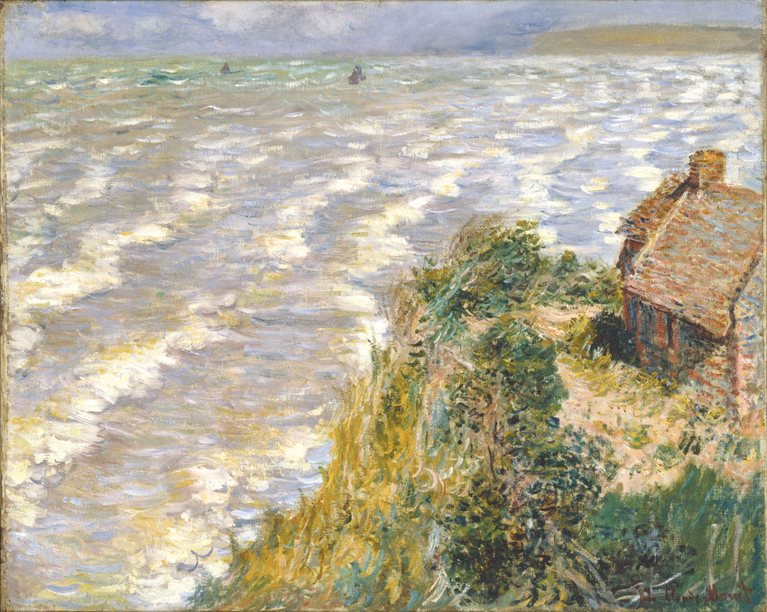 "Claude Monet, ""Rising Tide at Pourville"" (1882)"