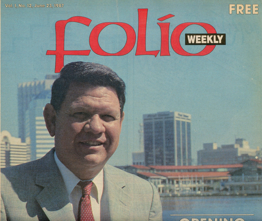 Jake Godbold on the cover of Folio Weekly, June 23, 1987