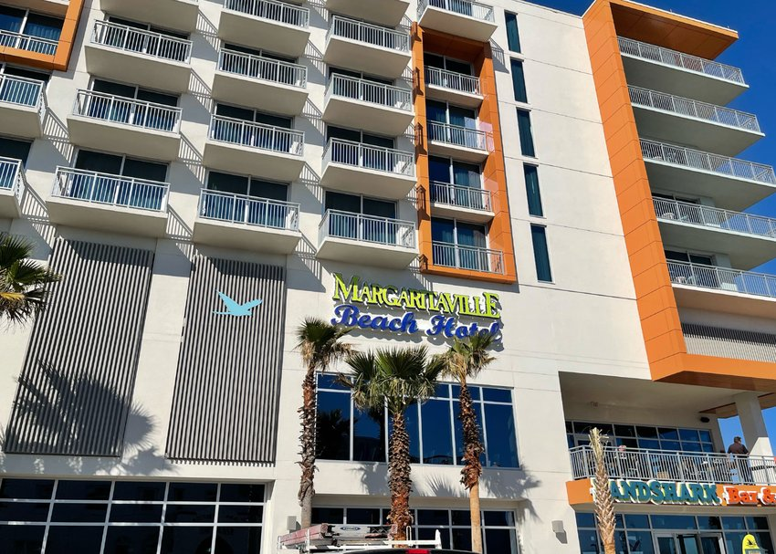 The new Margaritaville Beach Hotel and Landshark Bar and Grille.