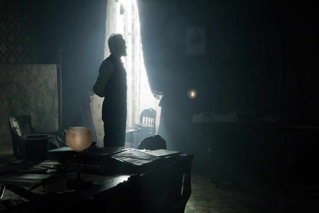 "Daniel Day-Lewis stars as President Abraham Lincoln in this scene from director Steven Spielberg's drama ""Lincoln."""