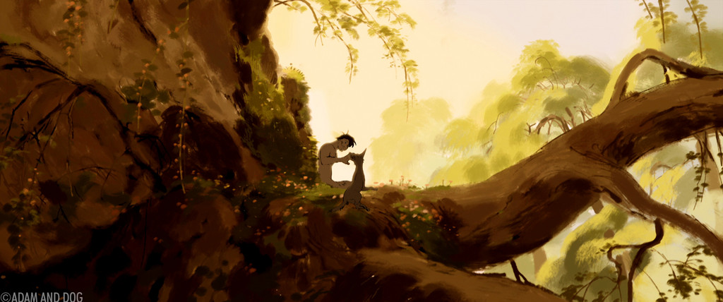 ADAM AND DOG
