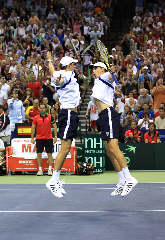 Brothers Mike and Bob Bryan (pictured) join John Isner and Sam Querrey on the U.S. team for this week's Davis Cup.