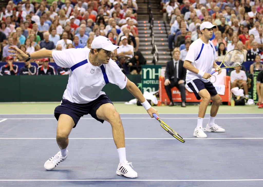 Brothers Bob and Mike Bryan (pictured) join John Isner and Sam Querrey on the U.S. team for this week's Davis Cup.