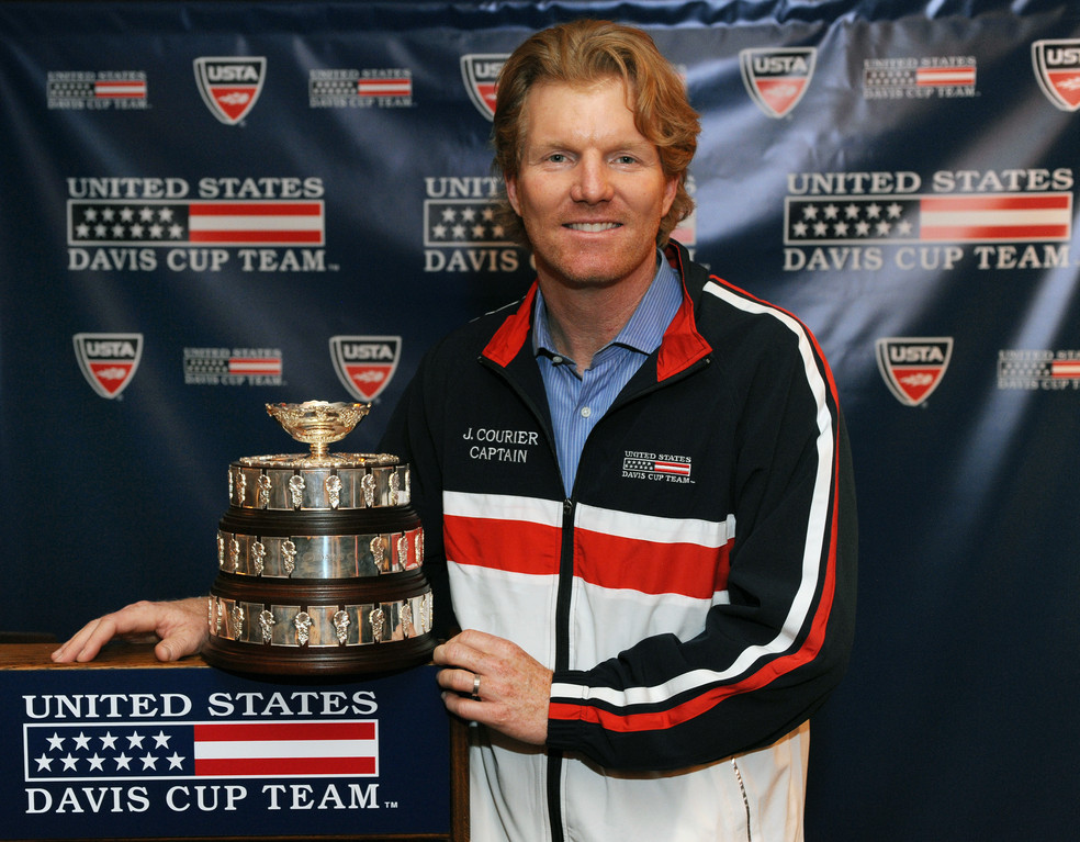 Jim Courier is the Davis Cup U.S. team's ageless constant as a former player and the captain of the current team.