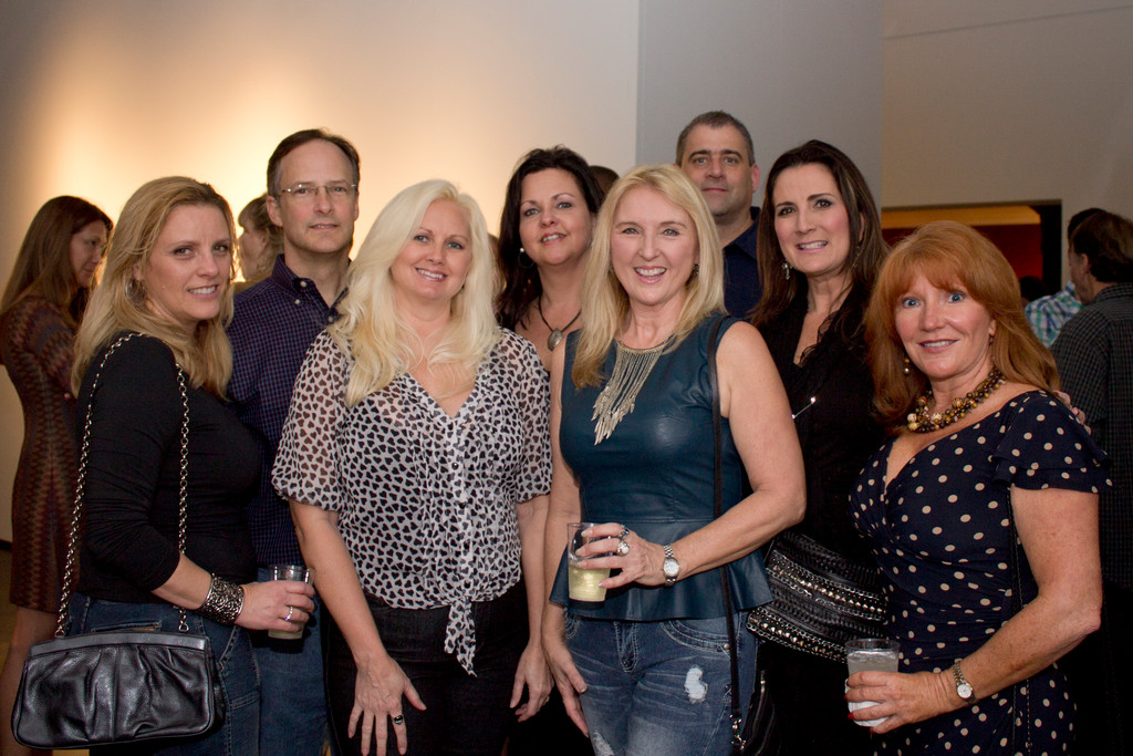 From left, Jennifer and Bruce Aimel, Karen Kurtzke, Julie Koren, Deb Bailey, Mike Koren, Lara Hoffman, Cammie Thomas