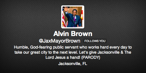 Best Supporting Actor: The Fake Mayor for acting like Mayor Alvin Brown on Twitter and making the Real Mayor appear way funnier and cooler and more honest than Brown himself