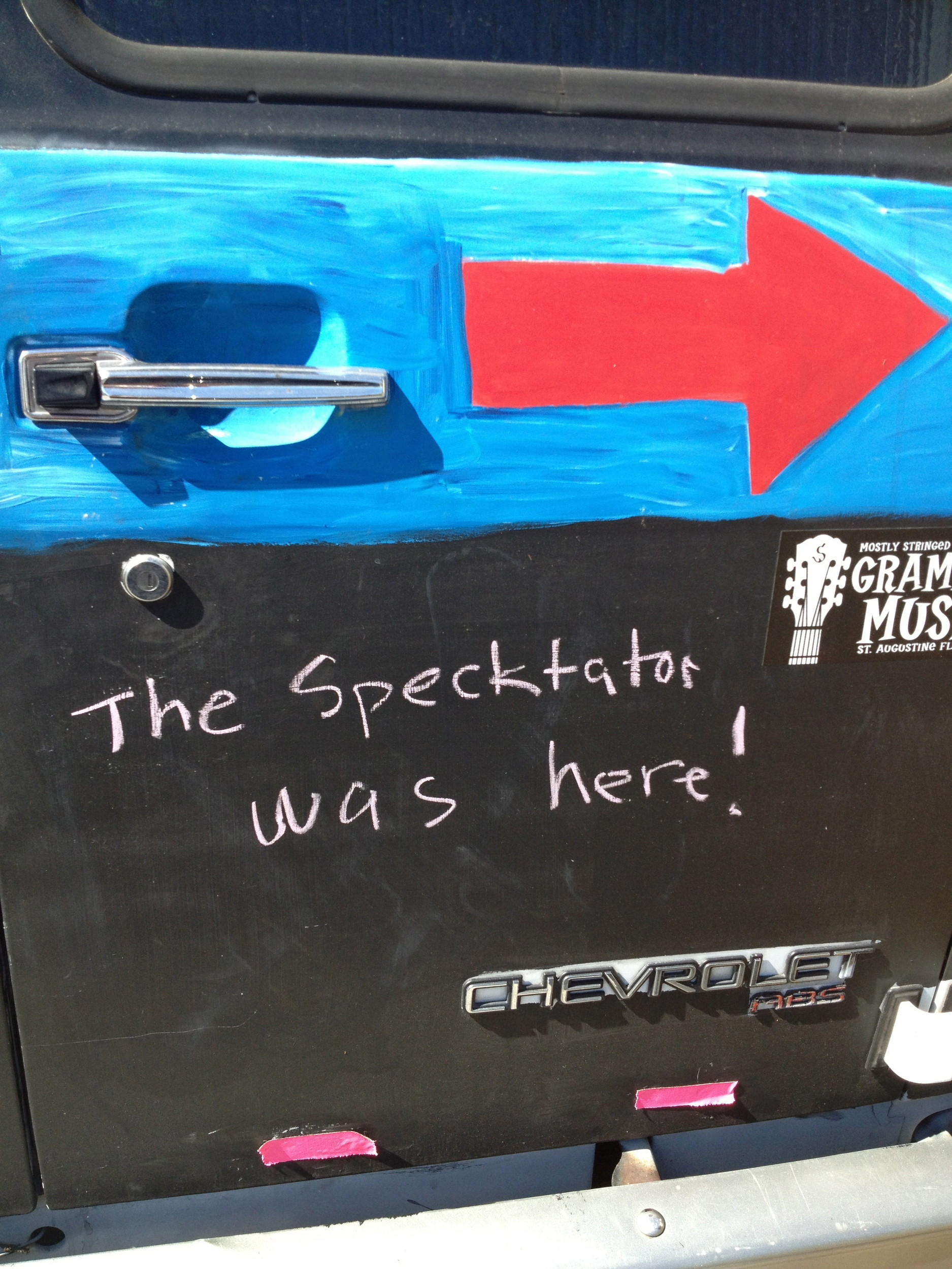 I sure hope that was chalk board paint before I vandalized this van parked outside.