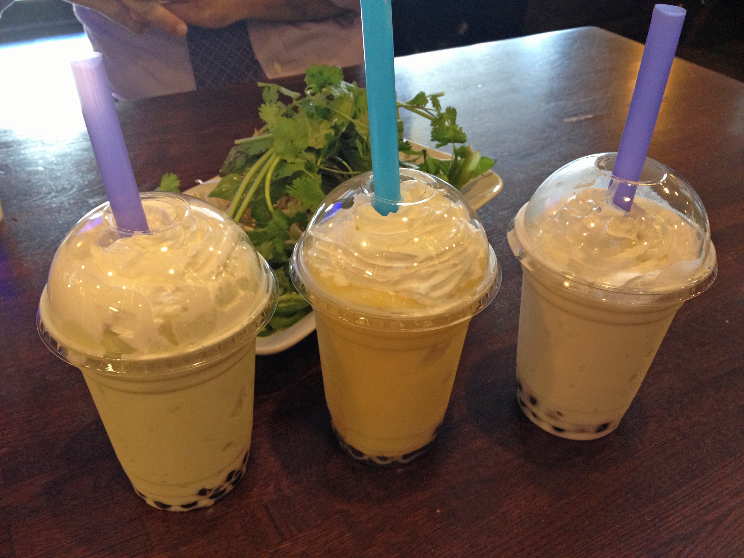 Bowl of Pho boba smoothies