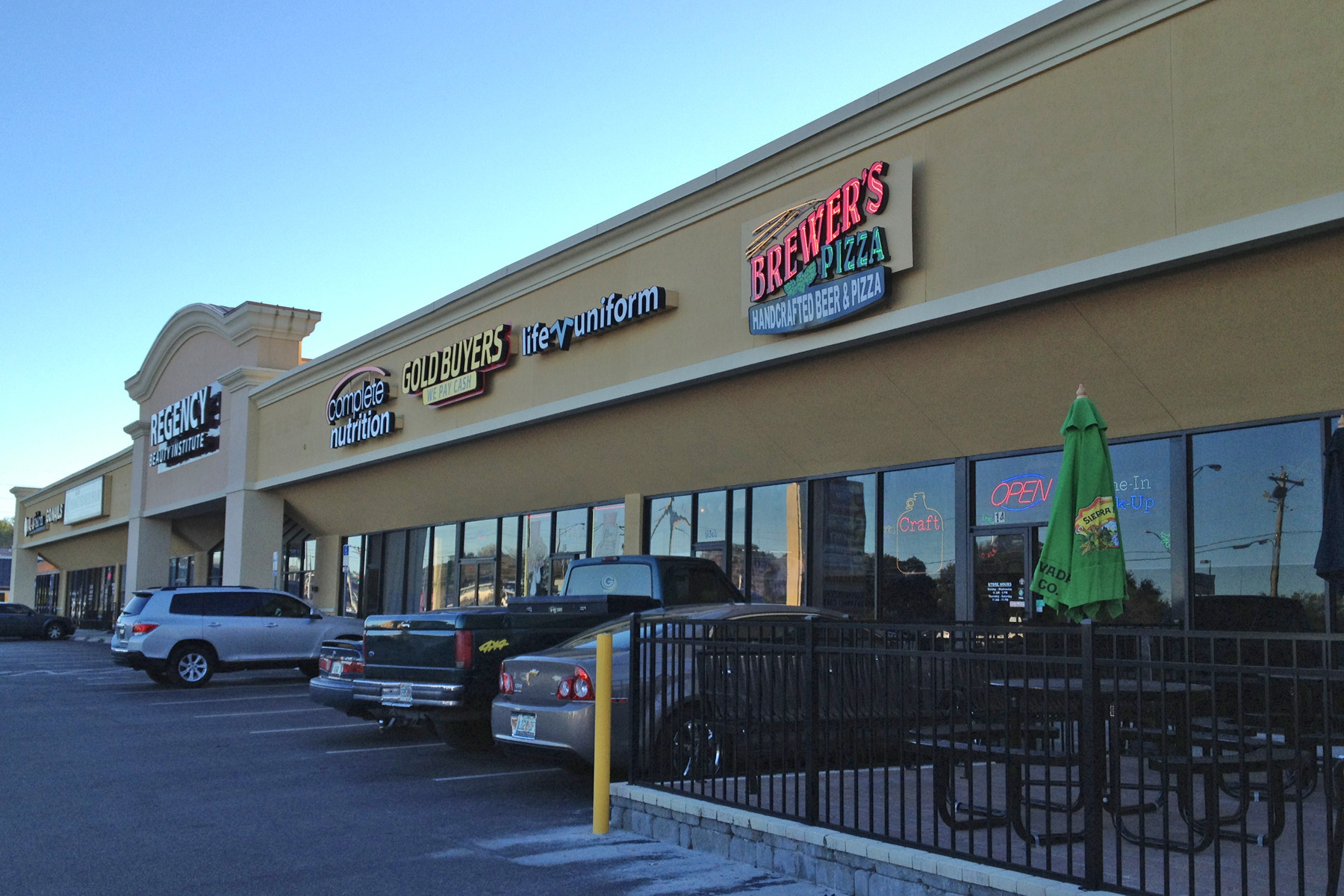 Brewer's is near the Orange Park Mall on Blanding Boulevard. Parking is ample.