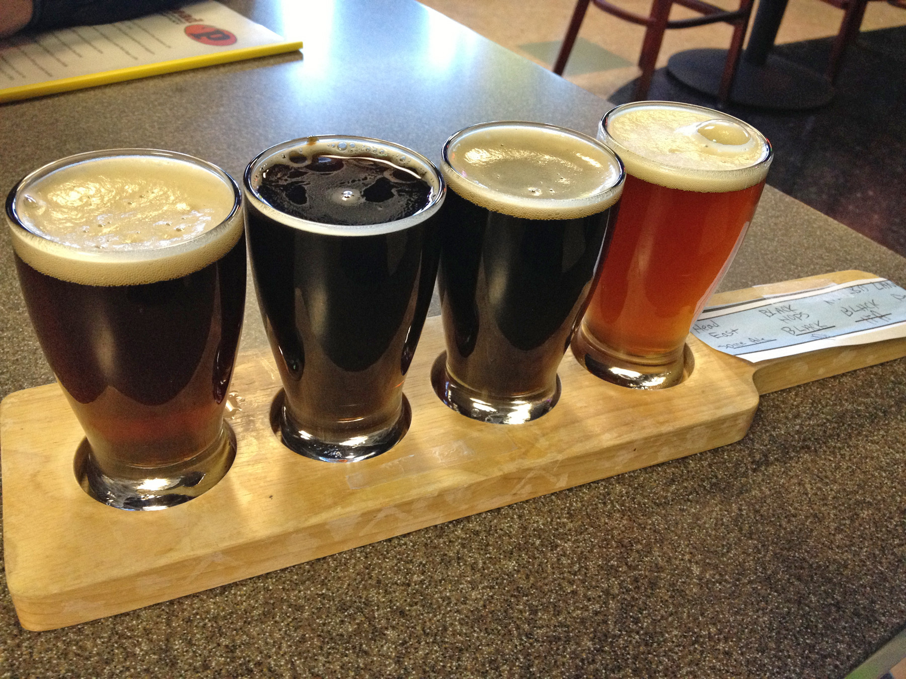 Can't decide on one beer, or want to try them all? Opt for a flight and select four 4-ounce pours.