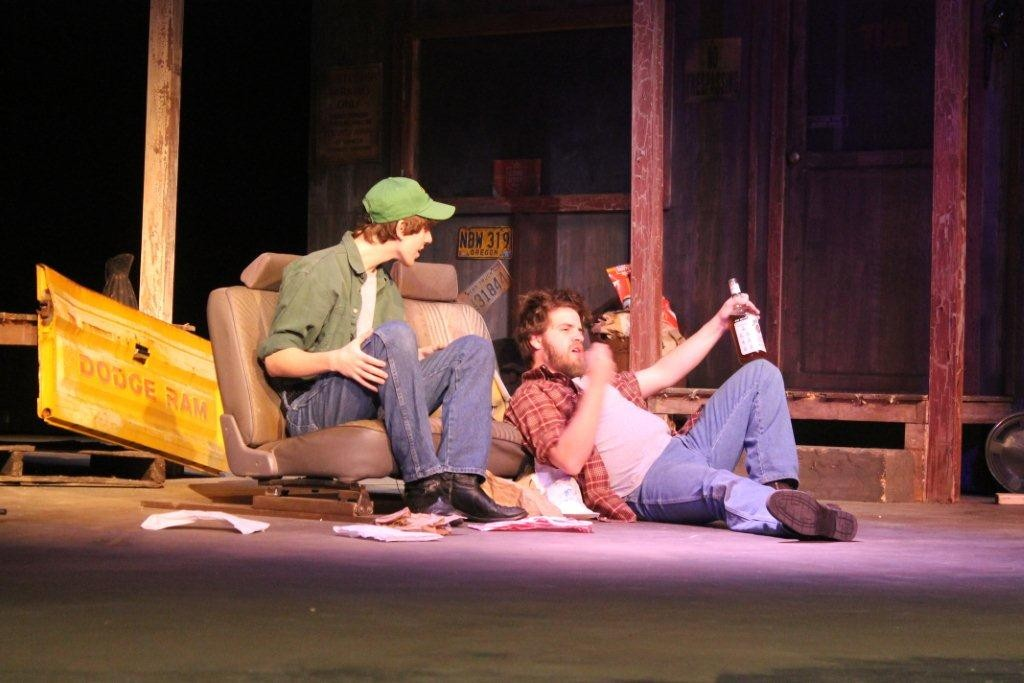 "Jacksonville University students Roy Matos (from left) and Nick Boucher in the JU College of Fine Arts' Division of Theatre & Dance production of ""Lone Star."""