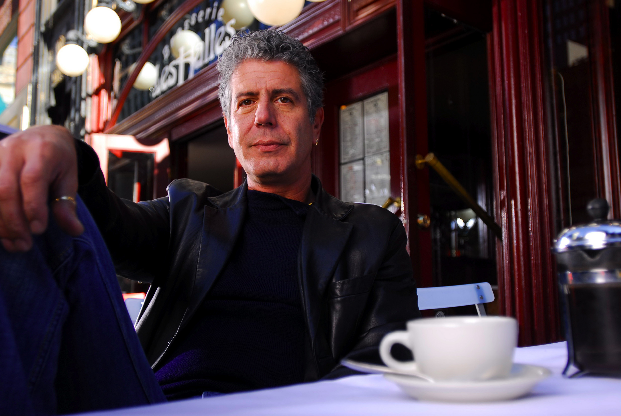 Anthony Bourdain spoke at the Times-Union Center for the Performing Arts April 25.