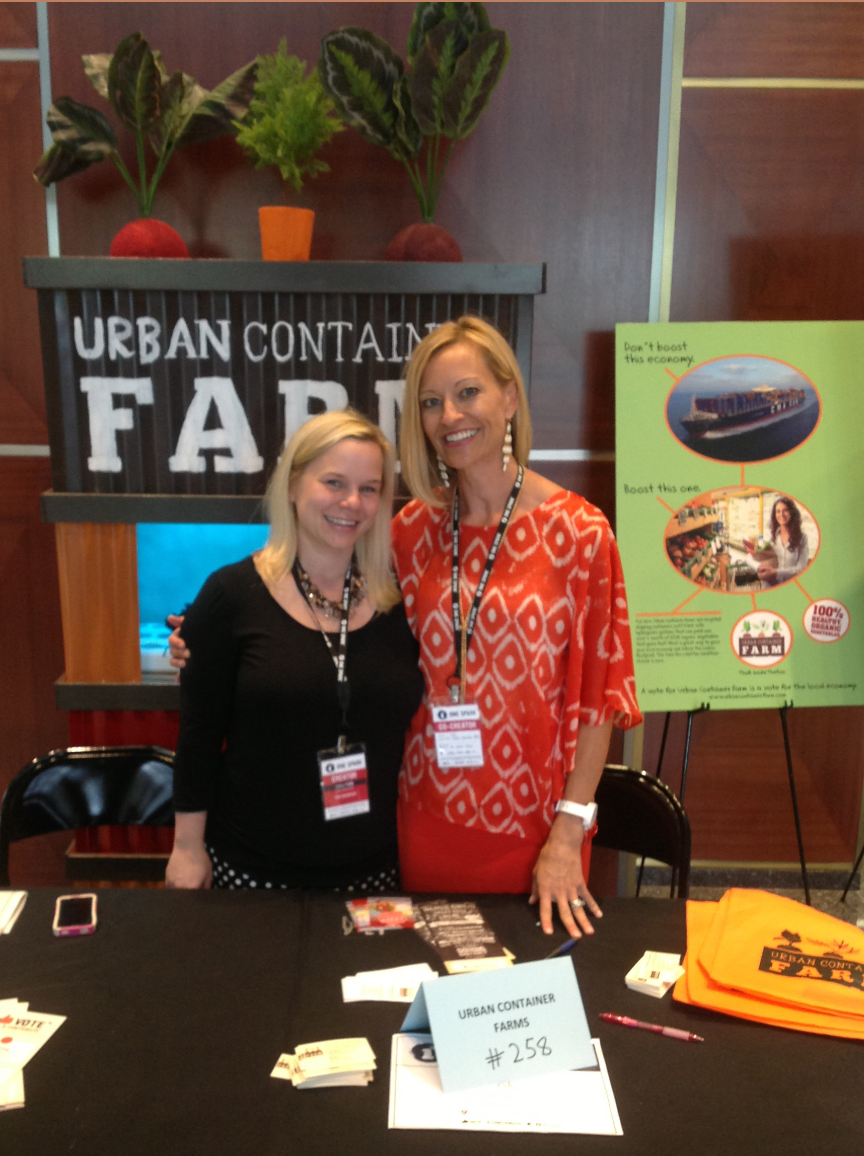 Staci Chamberlain and Andrea Shaw of Urban Container Farm.