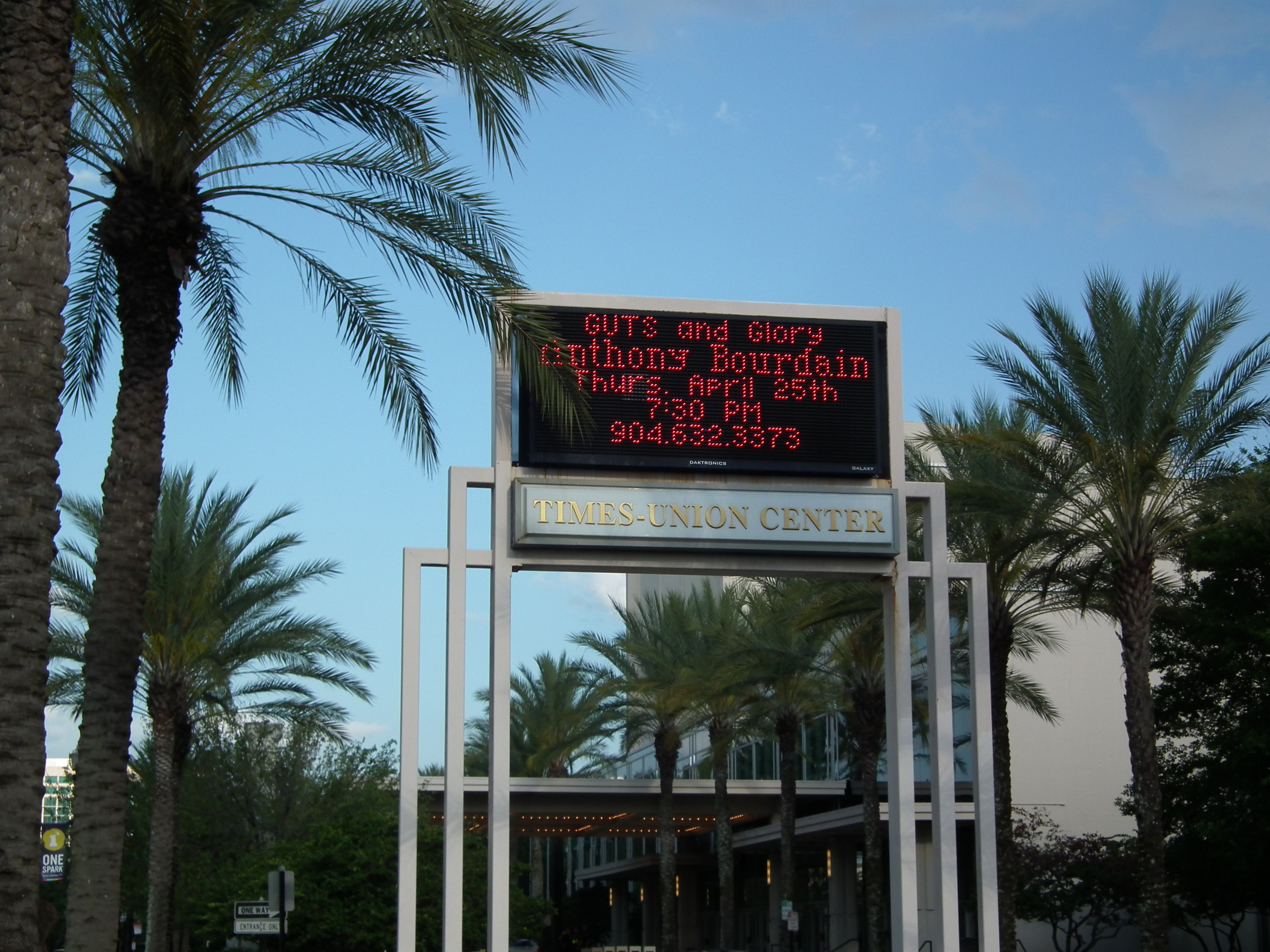 Times-Union Center for the Performing Arts sign