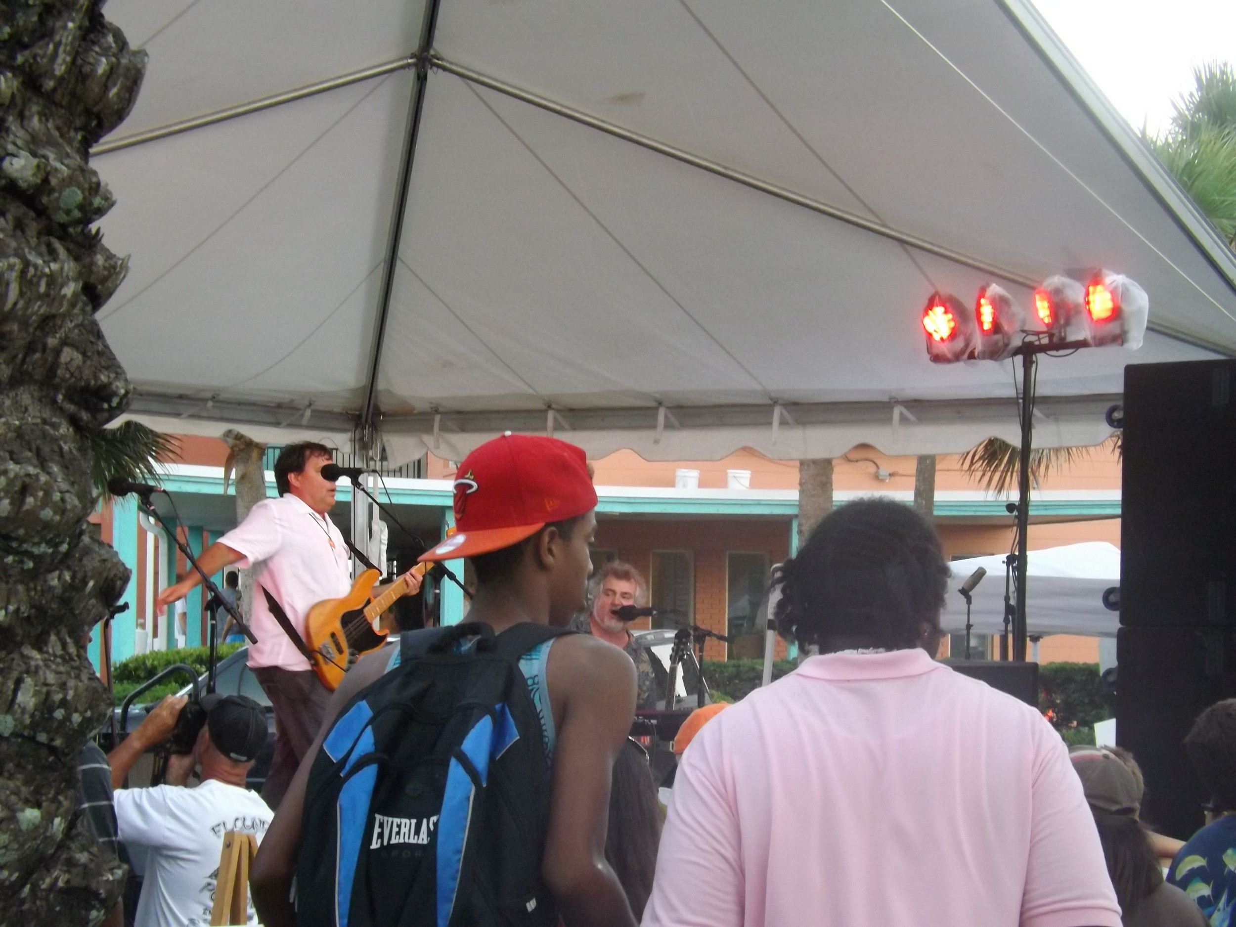 The band Bay Street, started by John Miller, contined getting the crowd into the groove.