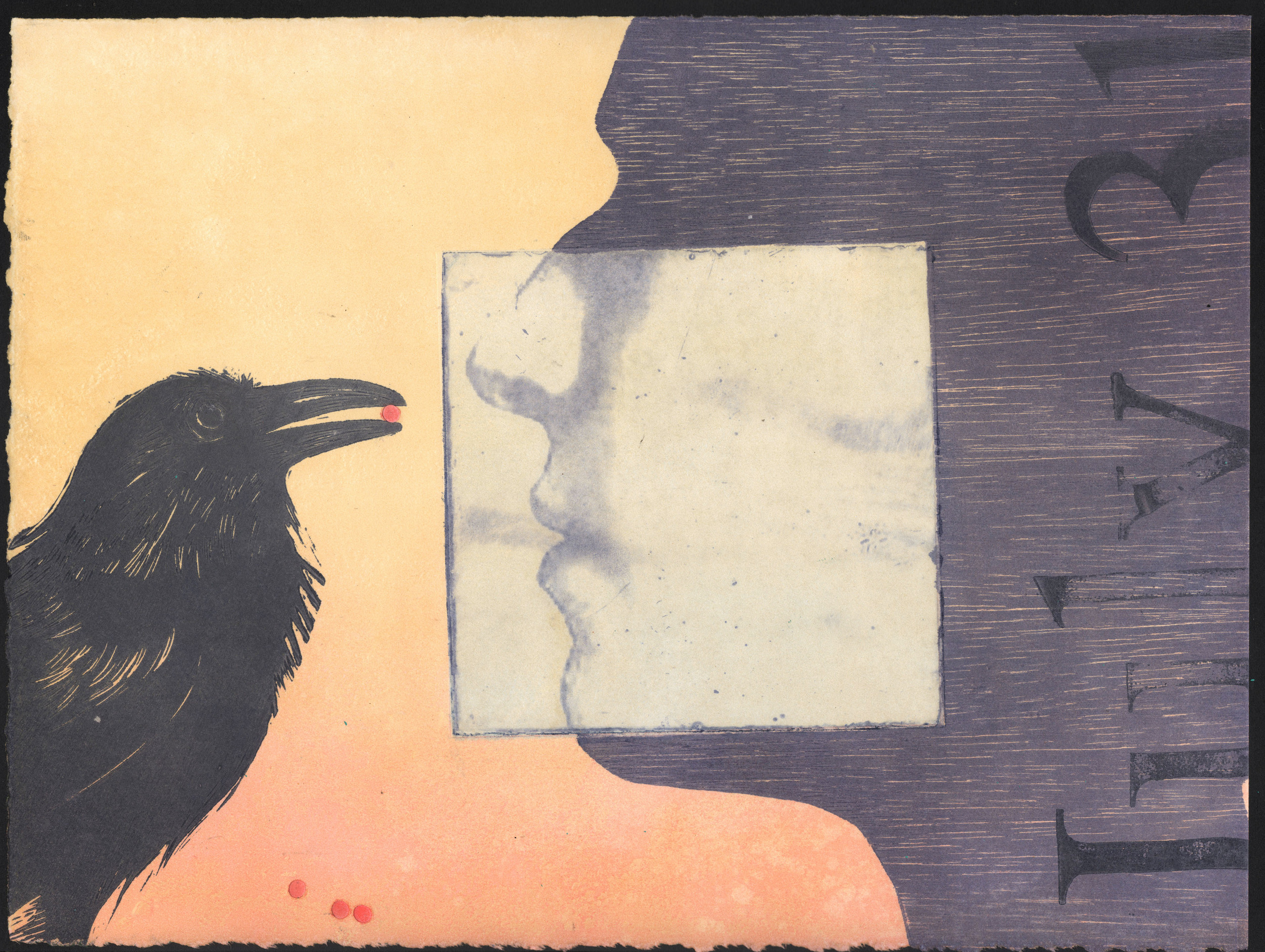 """Book of Days, July 31,"" a monoprint, is among Donald Martin's works in drawing, book arts, sculpture, painting and prints on display through June 20 at South Gallery at Wilson Center for the Arts, FSCJ's South Campus. Martin discusses his work May 22."