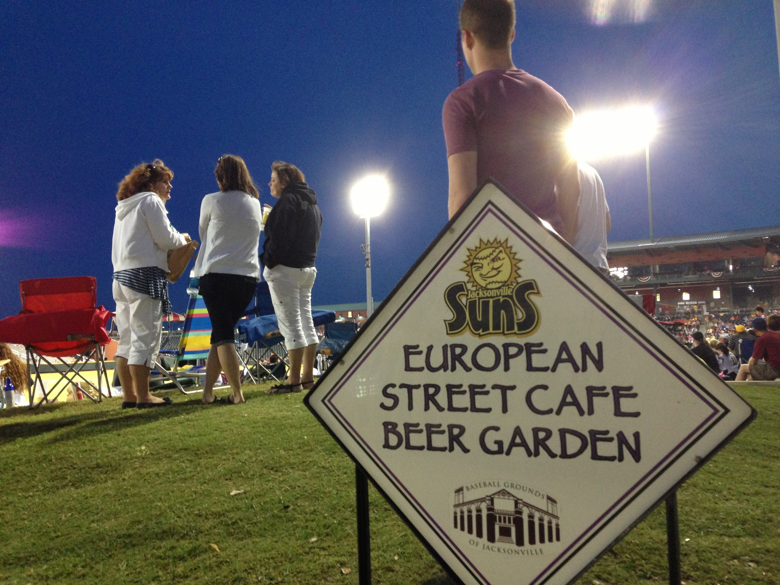 European Street Café Beer Garden at the Jacksonville Suns