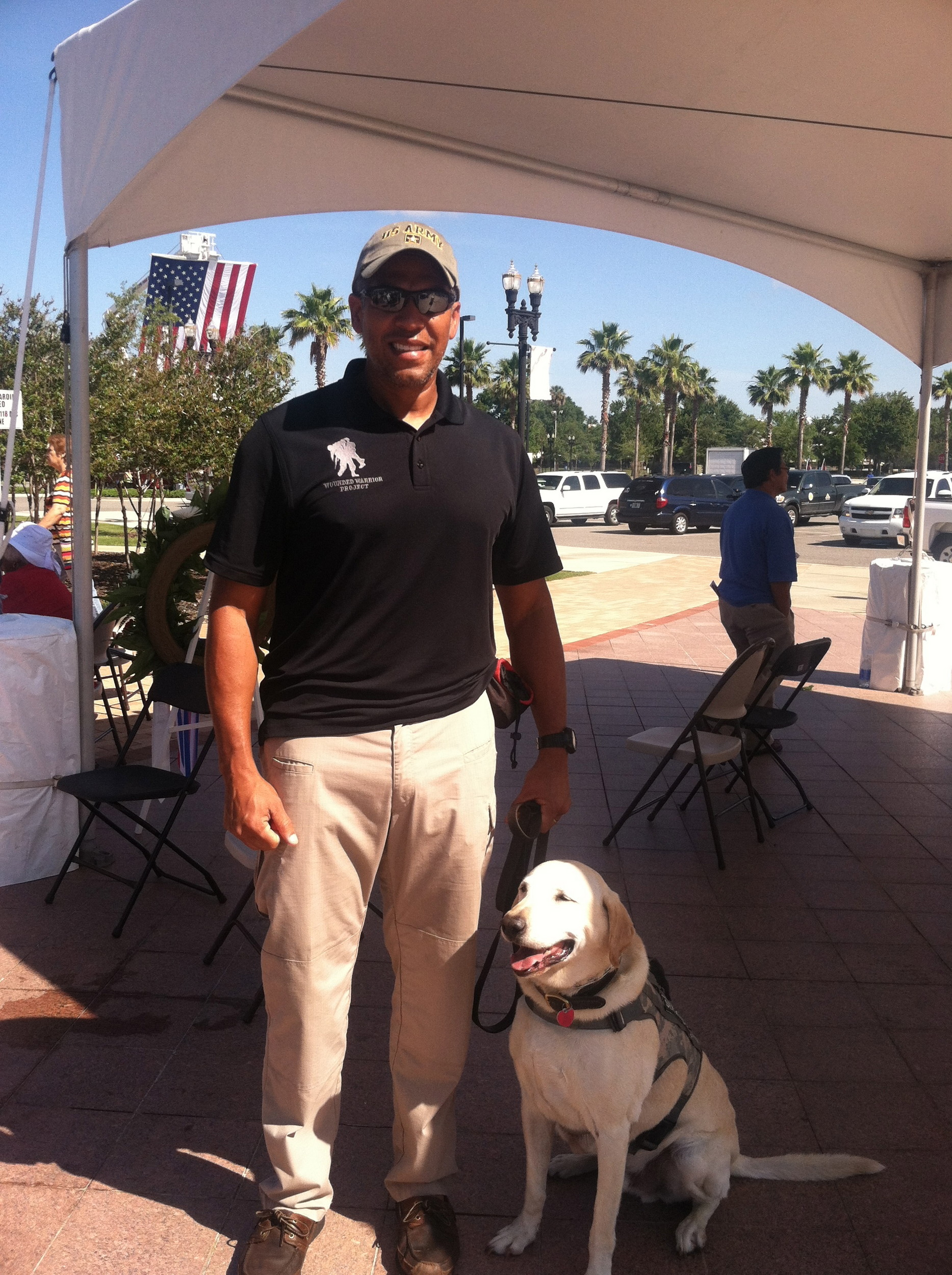 Carlos Vila and service dog Ranger