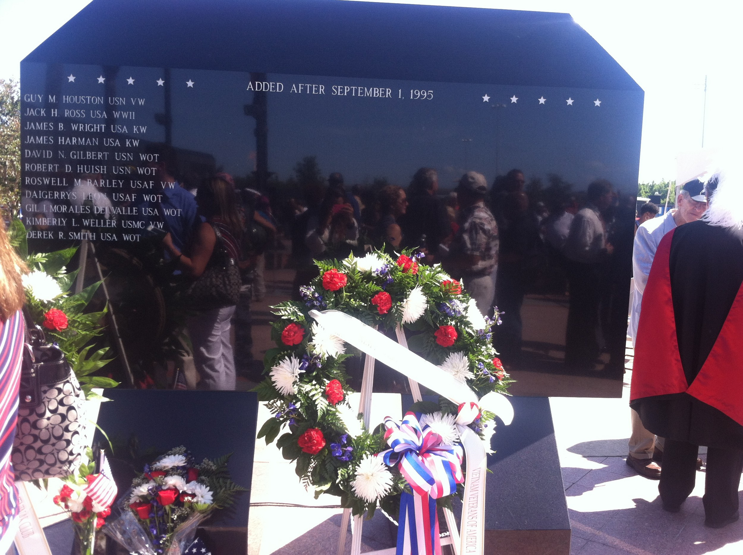 Two names were added to the wall honoring those who have died after September 1995.