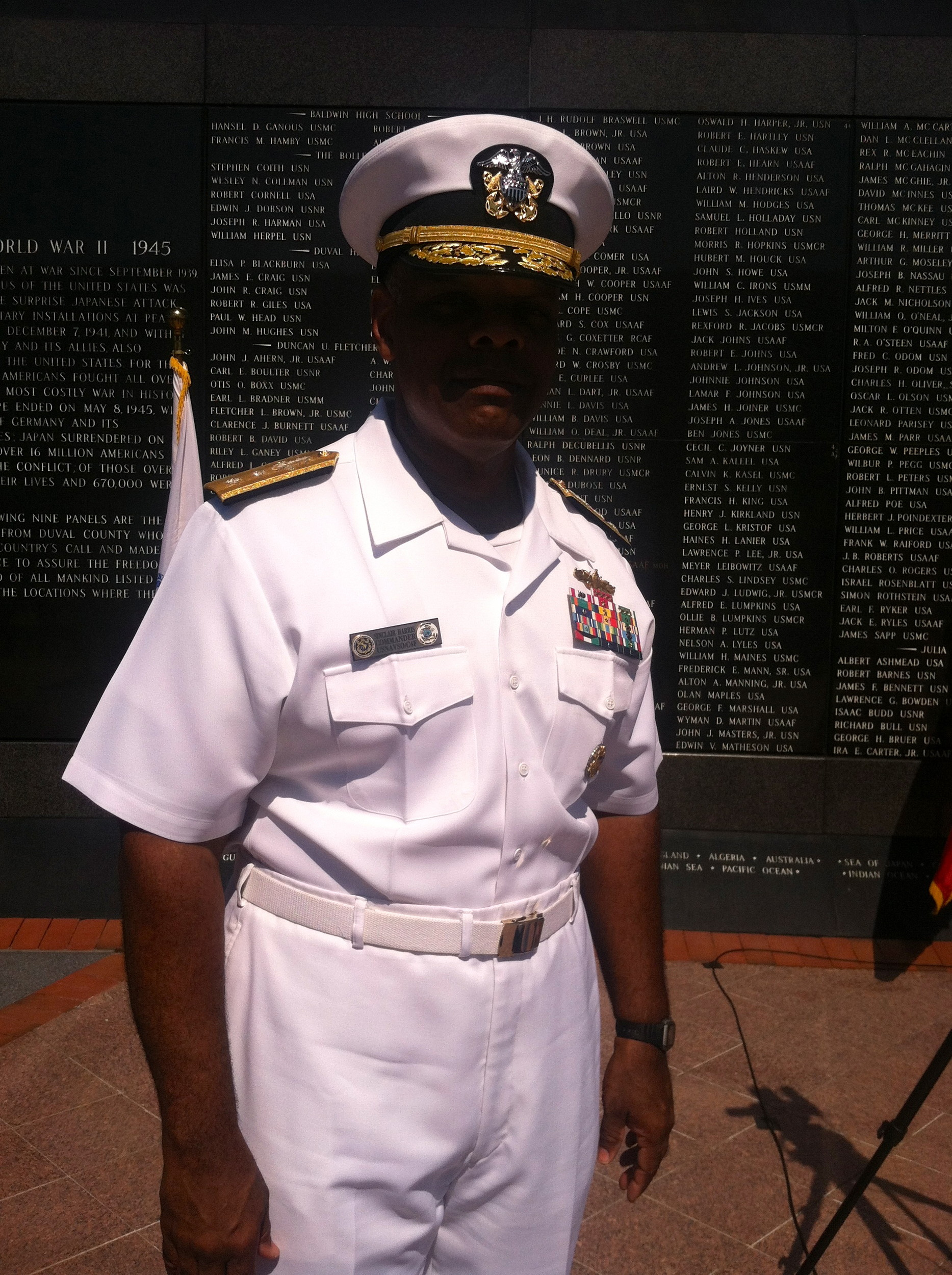 RADM Sinclair Harris, Commander, U.S. Naval