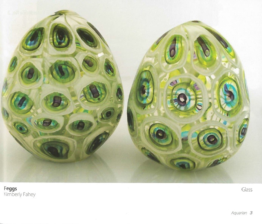 """Freggs,"" glass by Kimberly Fahev"