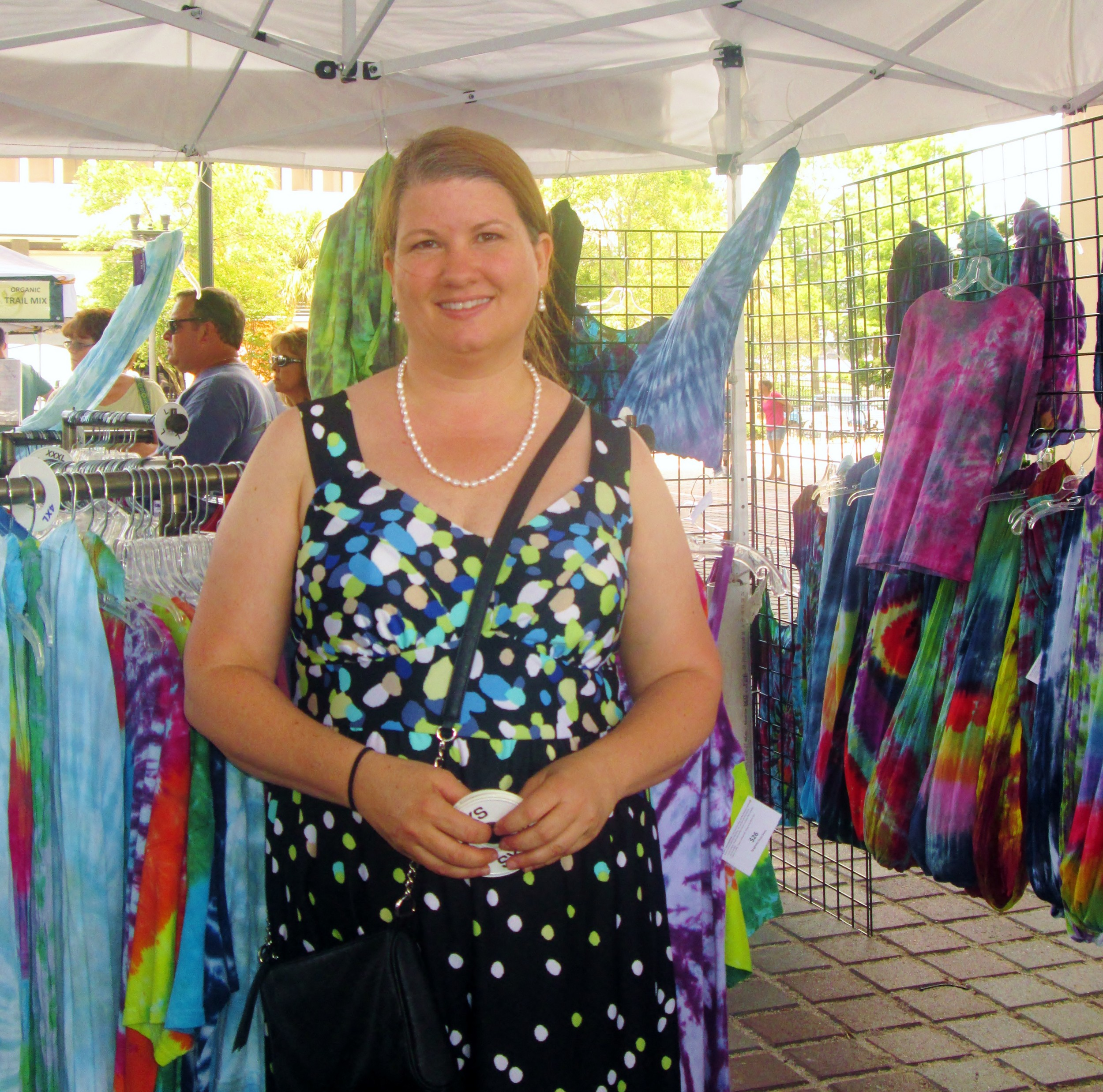 Kerri Halligan sells her tie-dyed clothing and accessories.