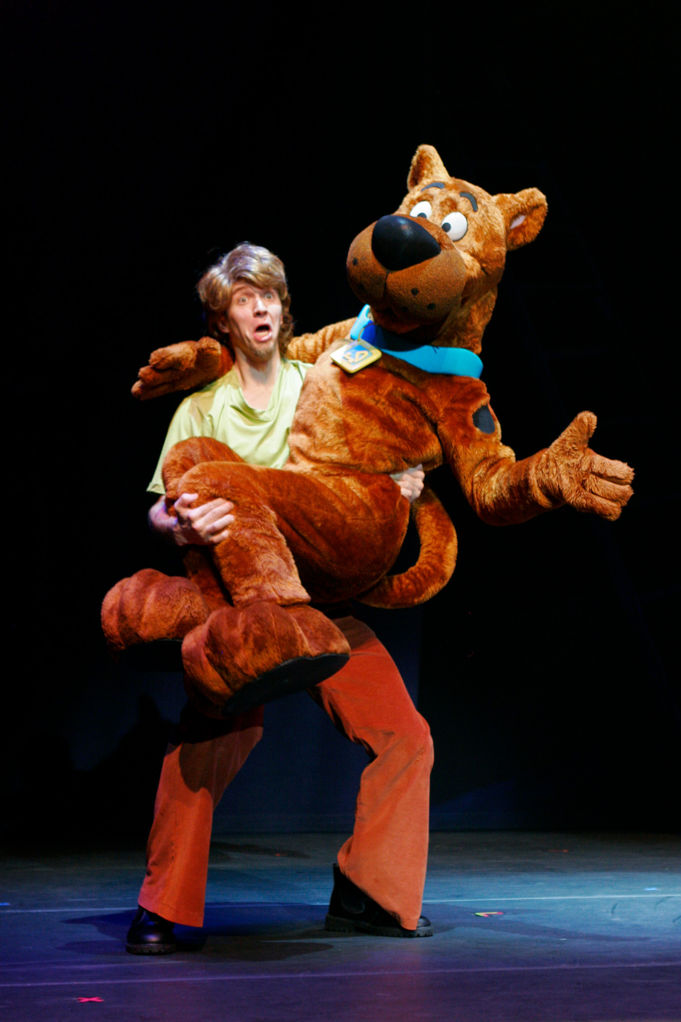 "Zoinks! Scooby-Doo and Shaggy have seen a ghost in ""Scooby-Doo Live! Musical Mysteries,"" presented by Warner Bros. Consumer Products and Life Like Touring."